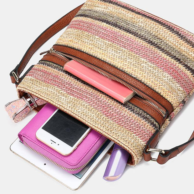Stripe Multi-cplor Crossbody Shoulder Bag