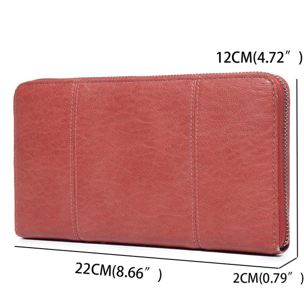 Large Capacity Leather Long Wallet Card Holder
