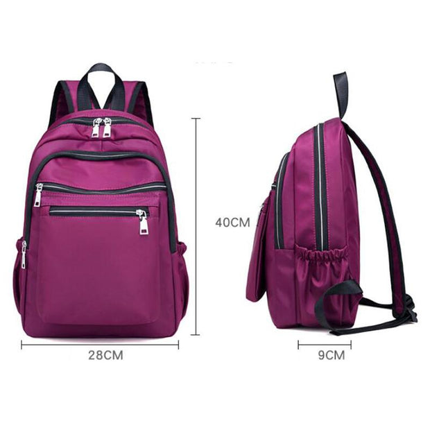 135284 Double shoulder Oxford cloth waterproof nylon student bag leisure travel bag