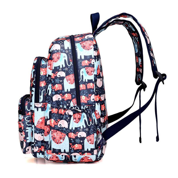 135293 Large capacity nylon printed student shoulder bag outdoor travel