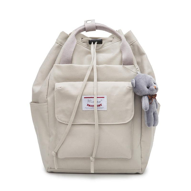135396 New Korean version of the tide wild fashion campus canvas small backpack student bag small fresh