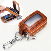 Women Men Double Layers Genuine Leather Key Bag Car Key Pouch Key Chain(Any 2 get 10% off by code: BUY2)
