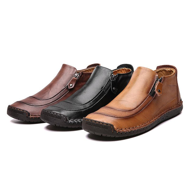 Men Leisure Leather Slip-on Shoes