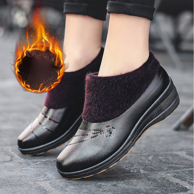 Women's Warm Leather Comfortable Non-slip Boots