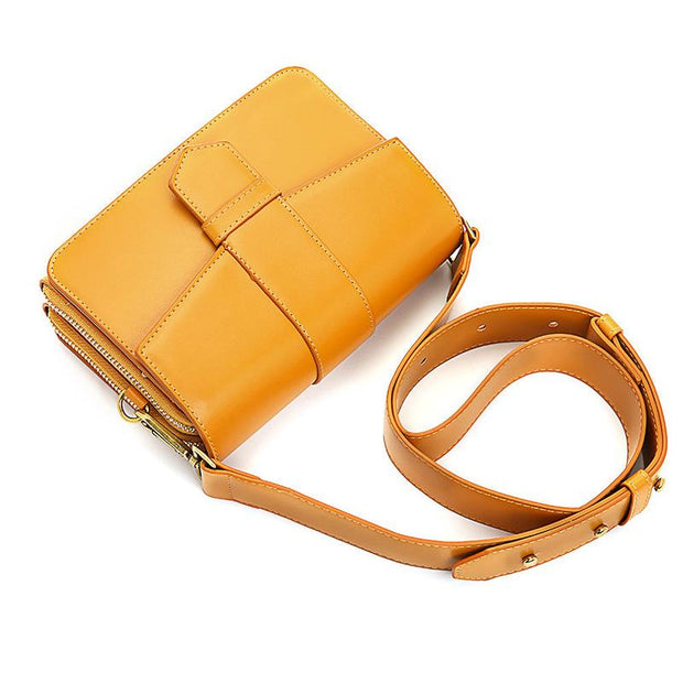 135778 Women Pure Color Plain Multi-pockets Phone Bag Shoulder Bag Crossbody Bags