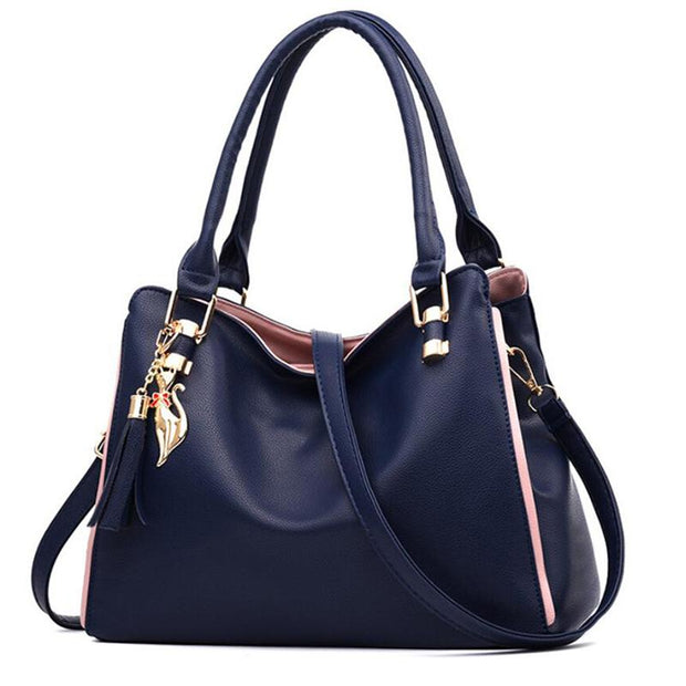 Large Capacity PU Leather Shoulder Bag