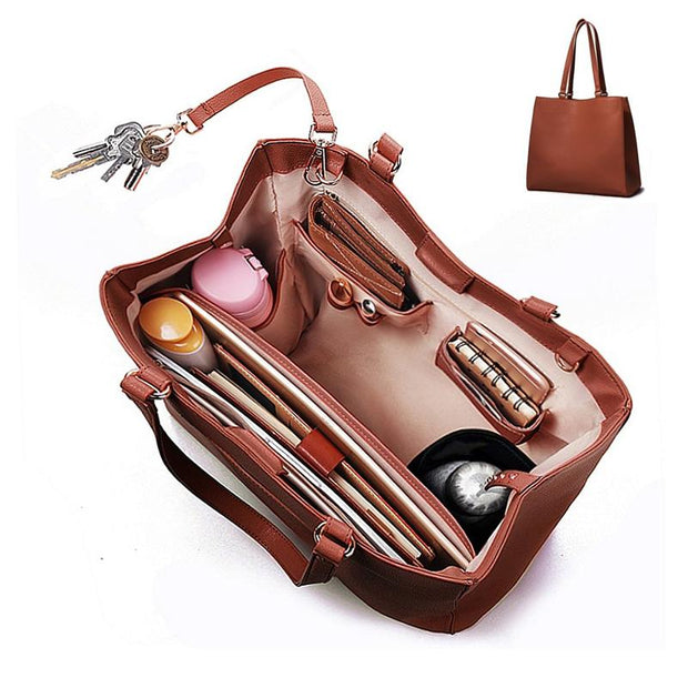 Casual Solid Color Handbag