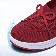 Women's flying woven mesh breathable sports shoes