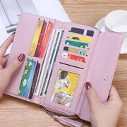Multi-function zipper mobile phone coin purse