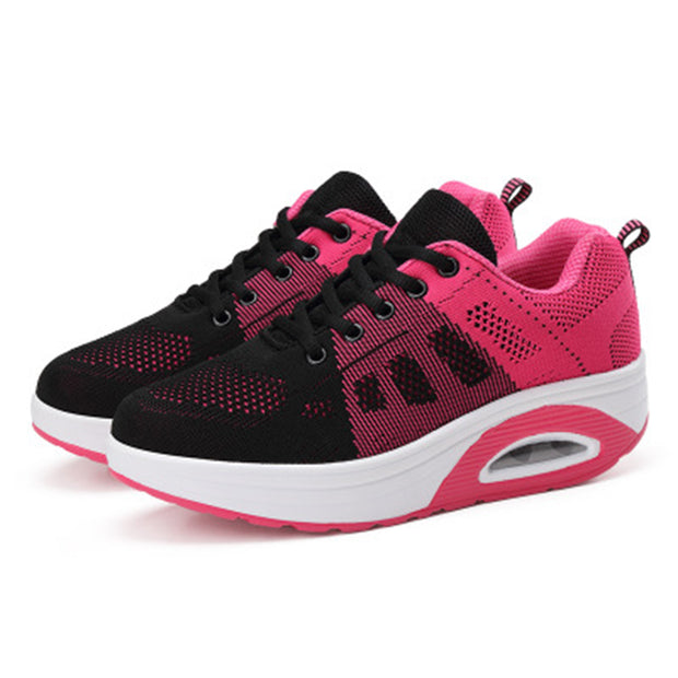 Women's platform mesh breathable shoes