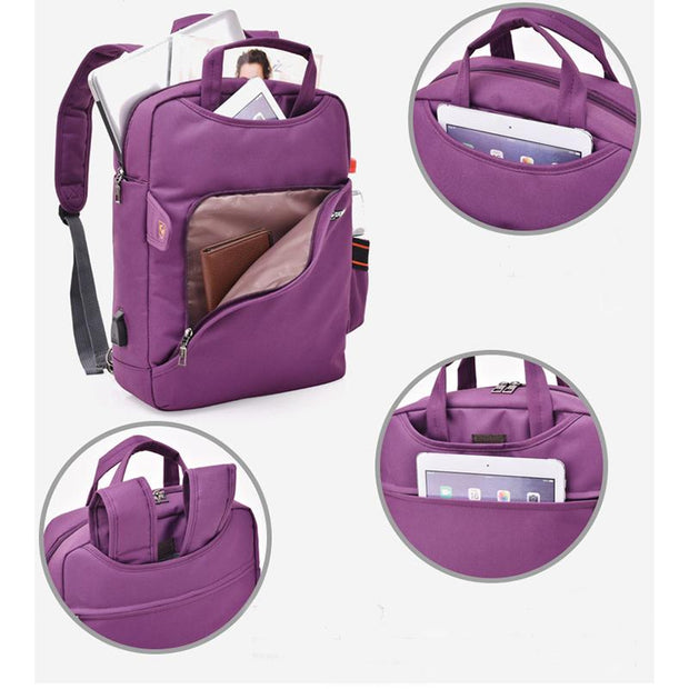 Men's and women's large-capacity laptop backpack
