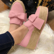 Women's Casual Loafers Bowknot shoes