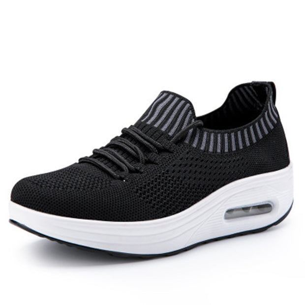 Women's breathable woven sneakers shoes