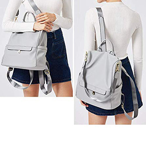 Women  Fashion Leather Travel Backpack