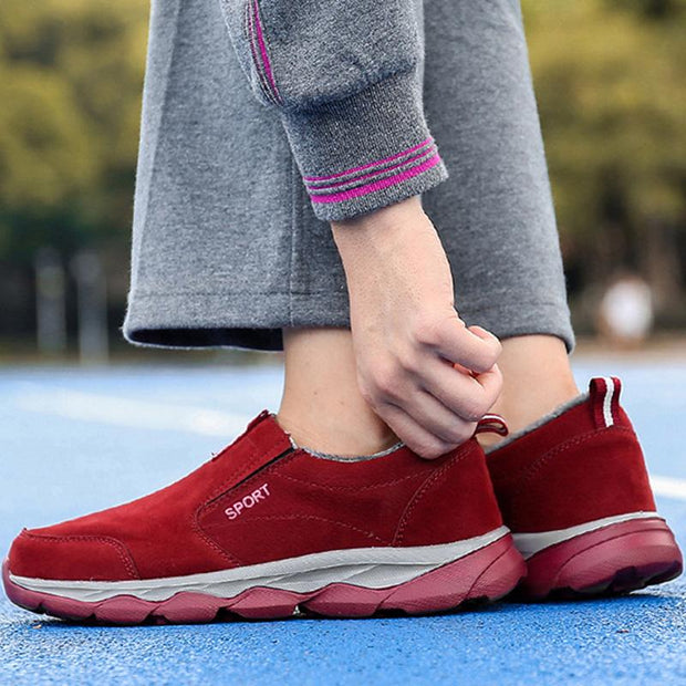 136358 Women's non-slip ultra-light middle-aged sports shoes soft bottom old walking shoes