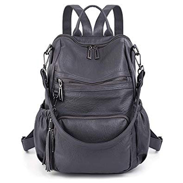 Women's Casual Large Capacity PU Backpack