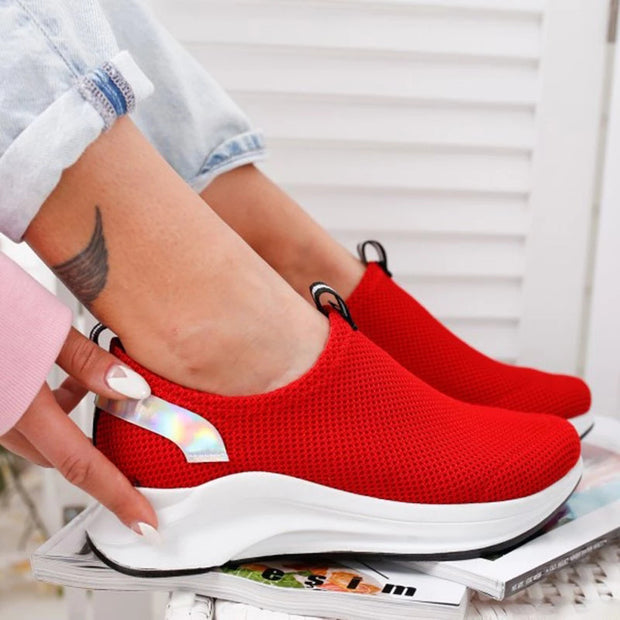 Women's Breathable Mesh Fabric Athletic Shoes
