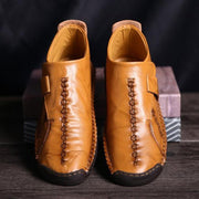 Men's Fashion Leather Middle High Stitching Shoes