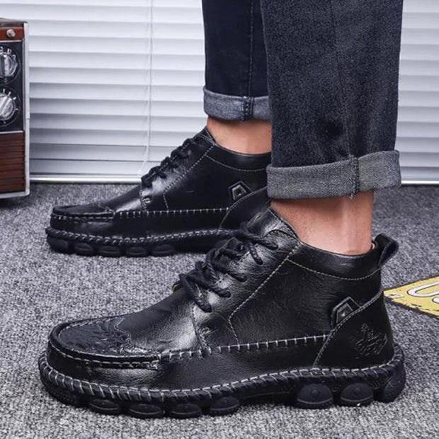 Men's Casual Leather Business Lace-up Boots