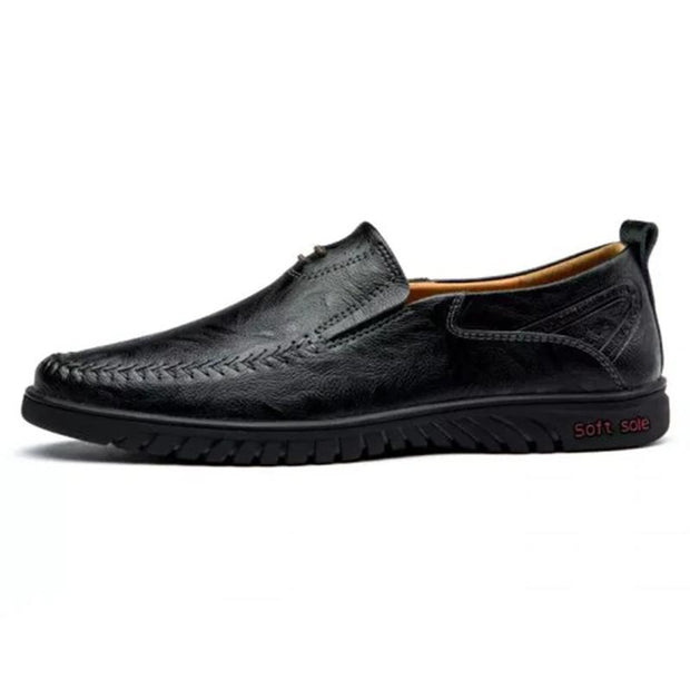 Men's Business Casual Leather Flat Shoes