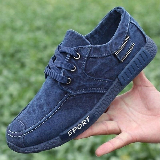 Men 's Casual Light Cloth Flat Shoes