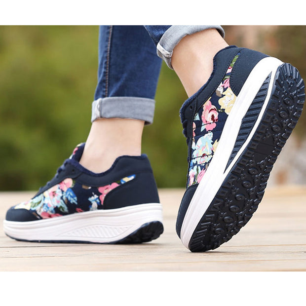Women's cotton shoes thick anti-skid sponge cake thick bottom plus shoes