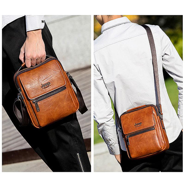 Men's Casual Leather Mini Shoulder Bag