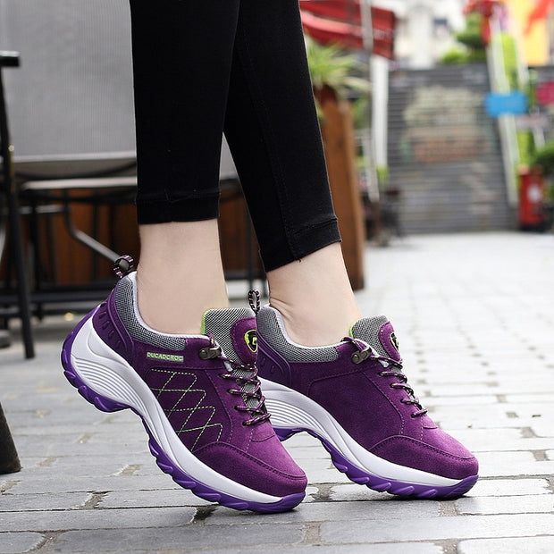 Women's Casual Light Weight Platform Air Sneakers