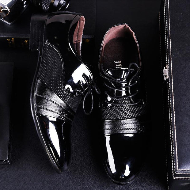 Men's Business Leather Pointed Dress Shoes