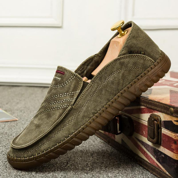 Men's Fashion Cloth Lightweight Flat Shoes
