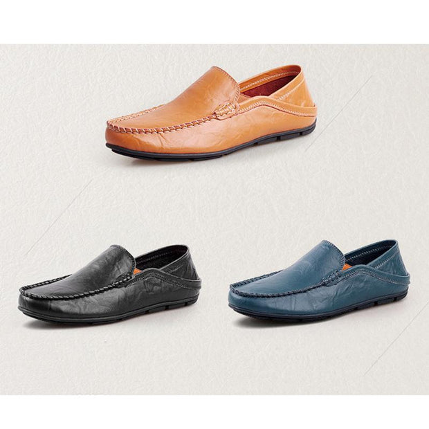 Men's Casual Leather Flat Tide Shoes