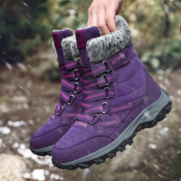 Breathable Warm Lined Hook Loop Comfy Casual Boots