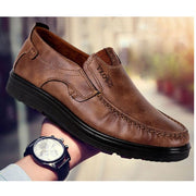 Men's Fashion Casual Leather Flat Shoes