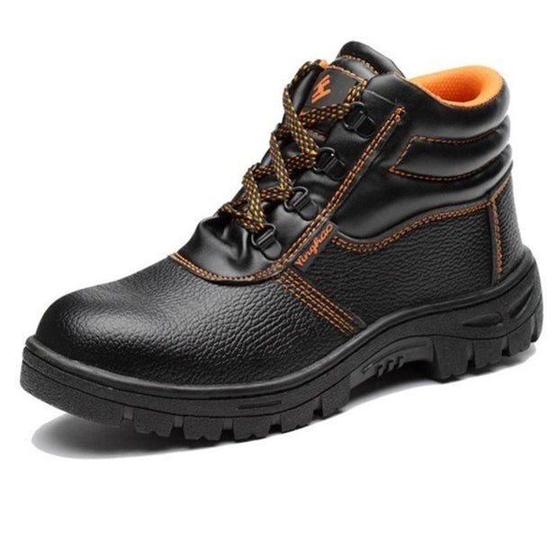 Men's Casual Leather Lace-up Boots Outdoor Shoes