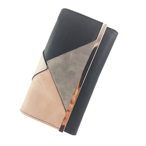 Women's Fashion PU Long Wallet