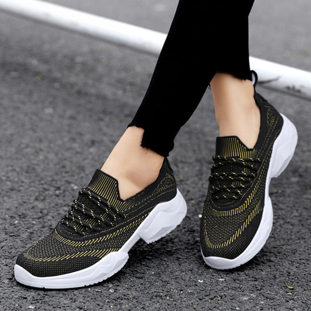 Women Woven Mesh Breathable Lightweight Sneakers