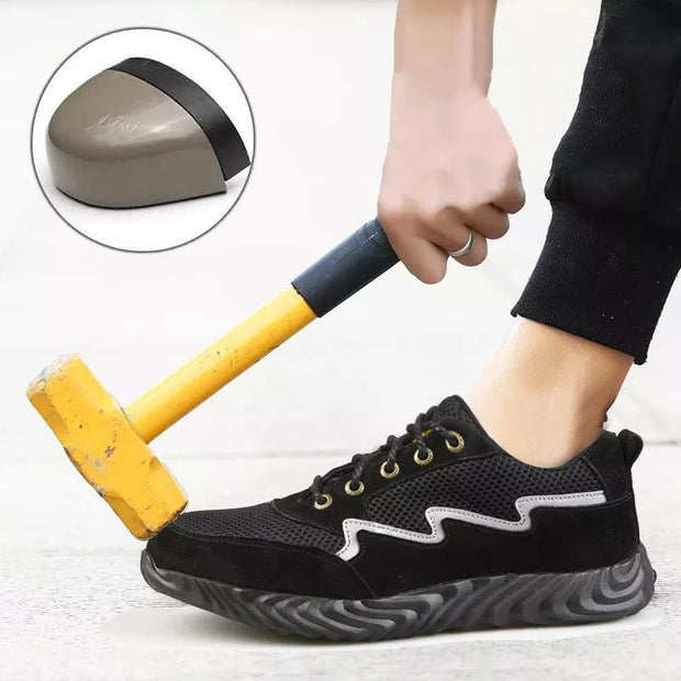 Men Steel Toe Lightweight Puncture Proof Sole Work Shoes