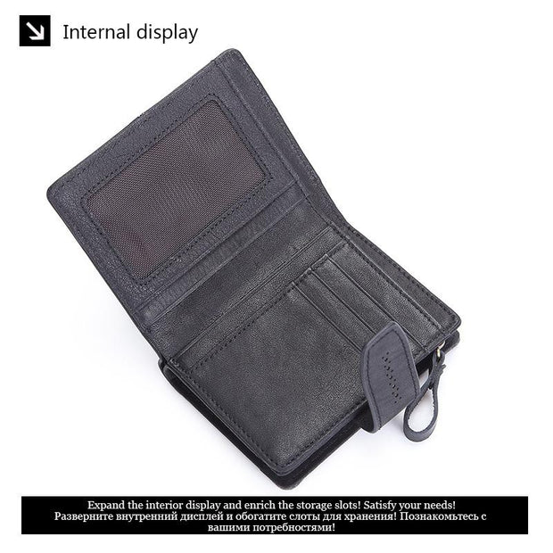 Women's RFID Leather Short Wallet