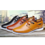 Men's Leather Low-top Casual Shoes Flats