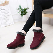 Women's Boots Waterproof Ankle Snow Boots Warm Fur Shoes