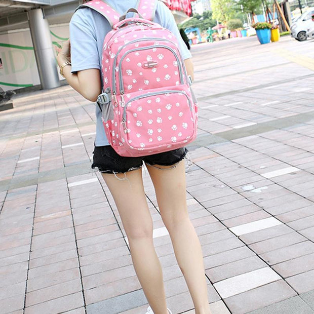 137016  Women's Korean Student Bag Candy Color Trend Backpack