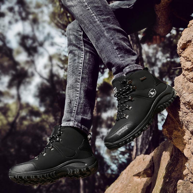 Men's All Seasons Mesh Breathable Wear-Resistant Outdoors High-Top Non-Slip Boots