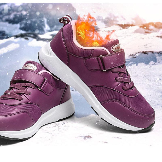 Women's Wear-Resistant Non-Slip Shock Absorption Breathable Lightweight Warm Sneakers