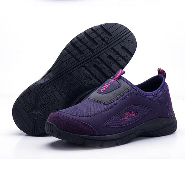 Women's Mesh Breathable Athletic Sports Casual Slip On Sneakers