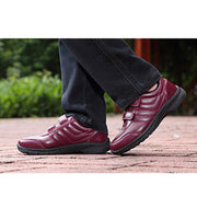 Women's Leather Cotton Waterproof Athletic Casual Solid Colors Sneakers