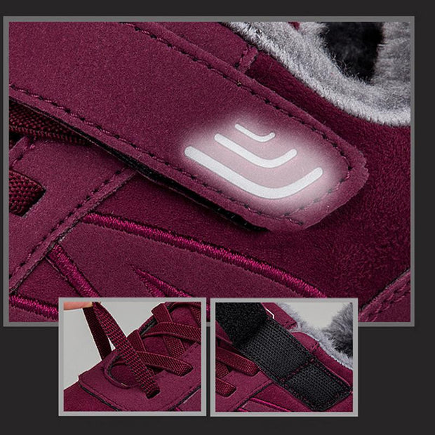 Women's Plus Velvet Cotton Faux Fur Warm Non-Slip Sneakers