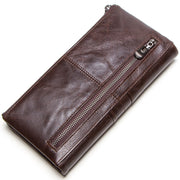 Women's fashion leather long section wallet