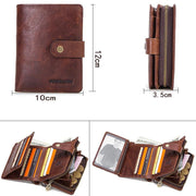 Men's Leather Multi-function Buckle Clutch Bag Wallet