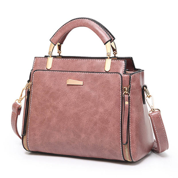 Women's Retro Fashion Leather Large Capacity Shoulder Messenger Bag