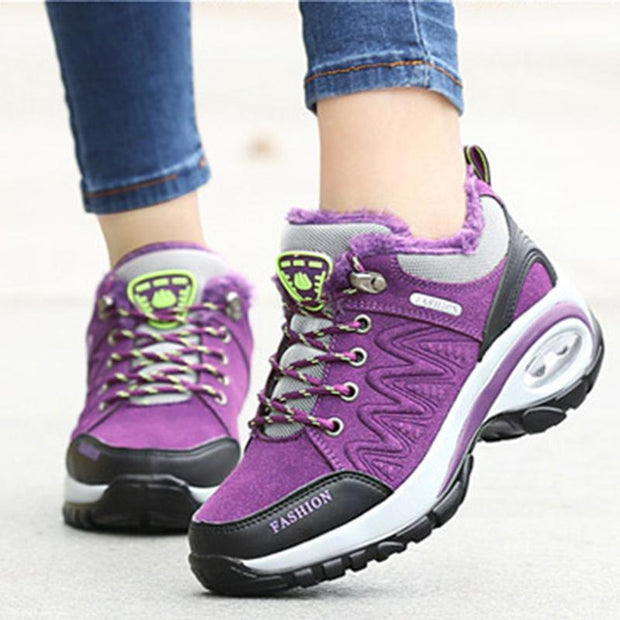 Women's Meh Breathable Plus Velvet Antiskid Hiking Sneakers